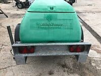 1000 Litre Water Bowser with built in trailer 1500KG