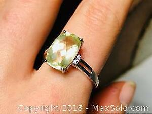 6 ct Green Citrine Ring