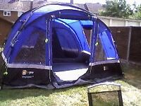 Voyager 6 tent with porch, footprint, carpet and accessories