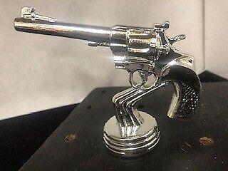 Vintage Metal Silver Colt 45 Trophy Topper Figure