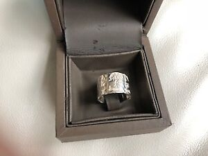 Ring, Esty Grossman design, sterling silver 925, size 6, Birks