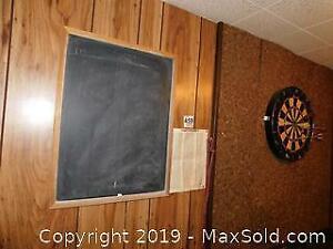 Chalkboard And Dart Board A
