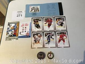 Canada Post Limited Edition NHL Souvenir Stamps & Canada Post $8 Stamp on Card