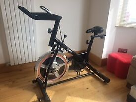 As new, unwanted present - JLL IC200 exercise bike in perfect condition. Owner's Manual.