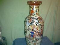 Chinese print on the vase