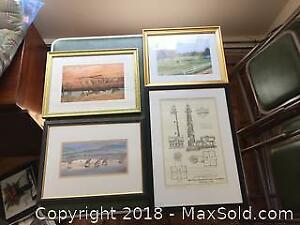 Lot Of Four Framed Prints A