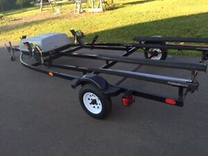 2013 double heavy duty long pole double seadoo trailer