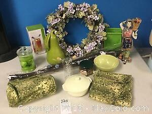 China Doll Figurine, Summer Wreath and More
