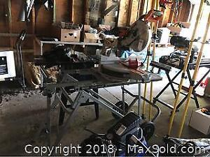 Compound Mitre Saw With Stand C