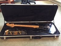 Fender Stratocaster 1978-79 Black. Flight case, stand and Fender Mustang Amp included.