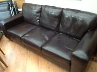 3-seater leather sofa FREE