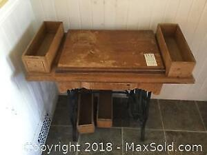 Vintage Sewing Machine Table A