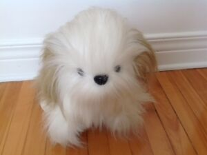 MIGNON PETIT CHIEN  TOUTOU EN PELUCHE, LOVELY PLUSH TOY DOG
