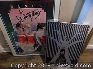 2 Framed Dance Posters