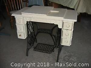 Antique Singer Treadle Sewing Machine Stand B