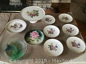 Cake Plate and Dessert Plates, Royal Bavarian Plate