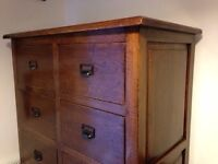 Hardwood 12 Drawer Cabinet