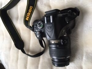 Black Nikon D5200 DSLR Camera with 18-55 Lens (Barely Used)