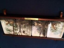 Natures Harmony Plates on a wooden frame