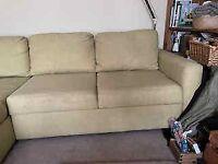 John Lewis, Double Sofa Bed, Green
