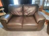 FREE + £10 FOR YOU if take it away - 2 seater leather sofa