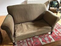 Drop arm two seater sofa for restoration (FREE)
