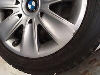 BMW winter wheels. Full set, size 205/55/R16.