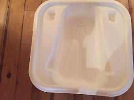 Baby bath from John Lewis, sits over bath or freestanding