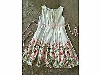 Lovely pretty floral party dress - size 7 & size 8 years