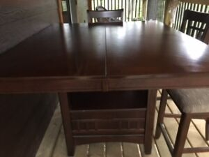 Kitchen/Dining Room Counter Hieght Table & Chairs (Jaffray Area)