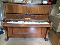 Steinberg Upright Piano, made in Berlin, walnut