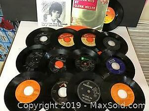Lot of 15 45 rpm records, mostly 1960s tunes