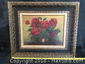 Rose Schul Oil Painting Signed