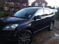Black Honda CRV