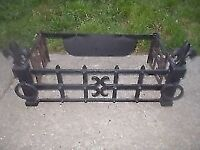 * REDUCED * WROUGHT IRON FIRE GRATE / FIRE SURROUND * 66cm x 36cm * CLACTON CO15