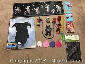 Cat Items & Dog Painting - A