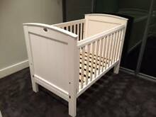 Boori Classic Cot & Matching Change Table - White, Good Condition Riverview Lane Cove Area Preview