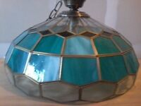Antique stained glass light