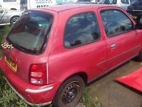 2002 NISSAN MICRA 1000CC - BREAKING FOR PARTS