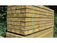 30 new tanalised timber sleepers 8ft, delivered
