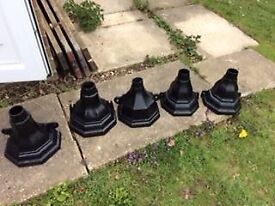 Hopper heads cast iron x 14 £65 collection Beighton near Lingwood and Cantley
