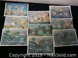 9 Canadian Proof Like Coin Sets ...W