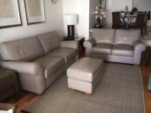 Moran Leather Sofas and Ottoman Kangaroo Point Brisbane South East Preview
