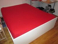 Ikea Queen Size Bed White, Very good condition!