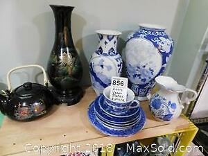856 Asian vases, plates and more