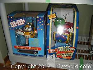 M And M Candy Dispenser And Radio A