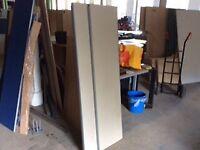 Grey rectangle desk dividers