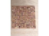 8 sheets of red marble mosaics 15 x 15