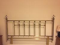 Lovely king size metal headboard antique brass style with enamel