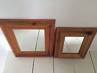 Laura Ashley Solid Pine Mirrors - 2 For Sale